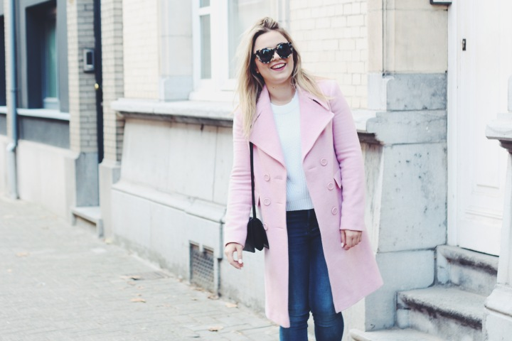 The pink coat